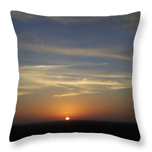Sunset Throw Pillow featuring the photograph Sunset 0040 by Laurie Paci