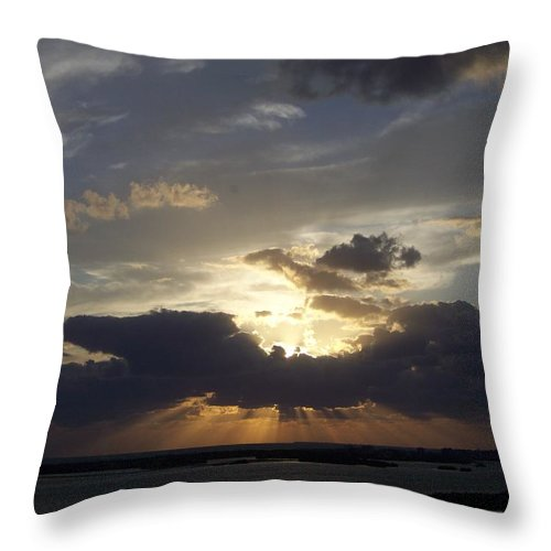 Sunset Throw Pillow featuring the photograph Sunset 0044 by Laurie Paci