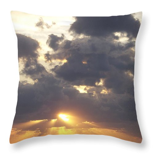 Sunset Throw Pillow featuring the photograph Sunset 0045 by Laurie Paci
