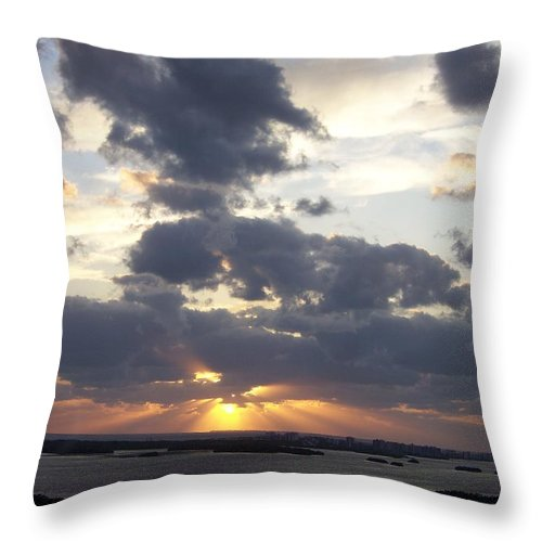 Sunset Throw Pillow featuring the photograph Sunset 0046 by Laurie Paci