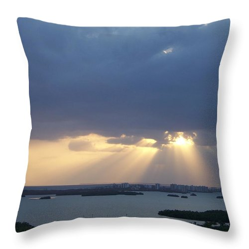Sunset Throw Pillow featuring the photograph Sunset 0048 by Laurie Paci
