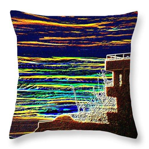 Seattle Throw Pillow featuring the digital art Sunset 1 by Tim Allen