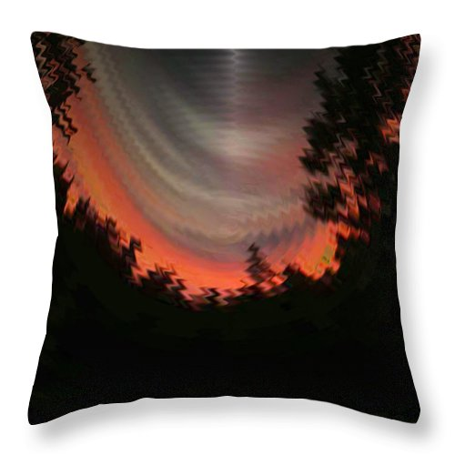 Sunset Throw Pillow featuring the digital art Sunset 3 by Tim Allen