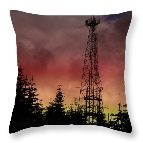 Sunset Throw Pillow featuring the photograph Sunset 5 by Tim Allen
