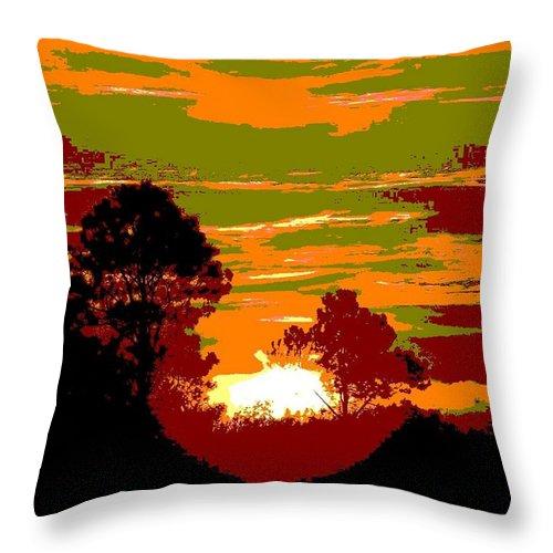 Sunset Throw Pillow featuring the photograph Sunset 6 by Tim Allen