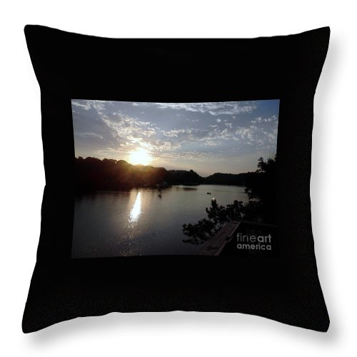 Sun Throw Pillow featuring the photograph Sunset at Occoquan by Jimmy Clark