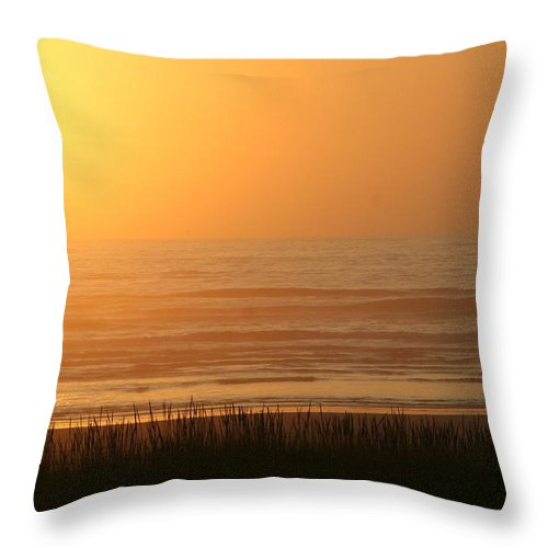 Sunset Throw Pillow featuring the photograph Sunset At The Beach by JoJo Photography