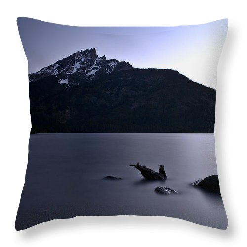 Nature Throw Pillow featuring the photograph Sunset At The Lake by John K Sampson