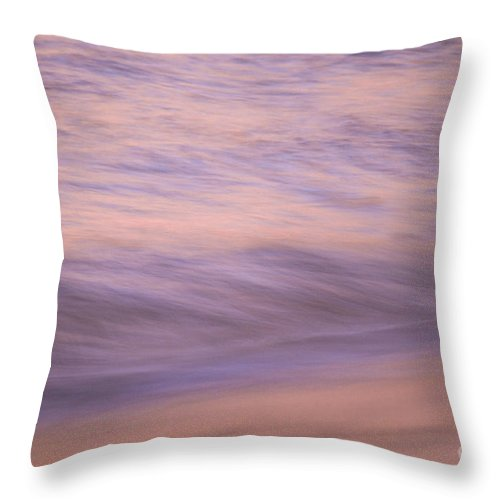 Waves Throw Pillow featuring the photograph Sunset Becomes Water by Jeanne McGee