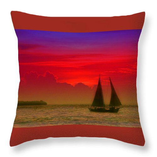 Sunset Photos Throw Pillow featuring the photograph Sunset Behind The Clouds by Susanne Van Hulst