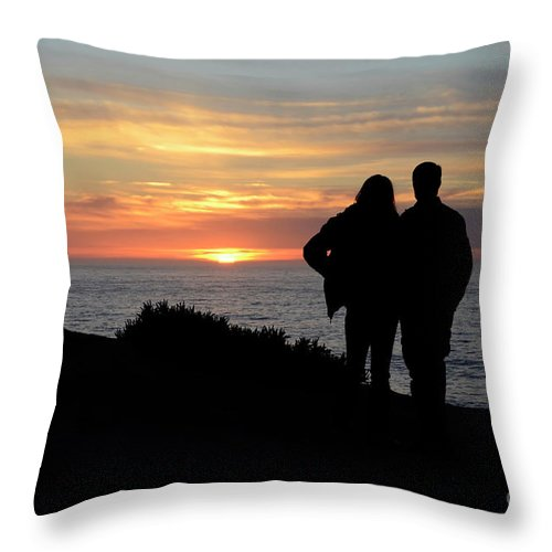 Sunset Throw Pillow featuring the photograph Sunset California Coast by Bob Christopher