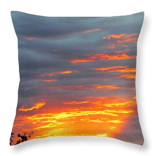 Sunset Christchurch New Zealand Throw Pillow featuring the photograph Sunset Christchurch New Zealand by Joyce Woodhouse