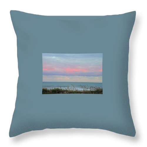 Sunset Throw Pillow featuring the photograph Sunset Colors To The South by Betty Buller Whitehead