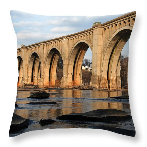 Bridge Throw Pillow featuring the photograph Sunset Crossing by Kelvin Booker