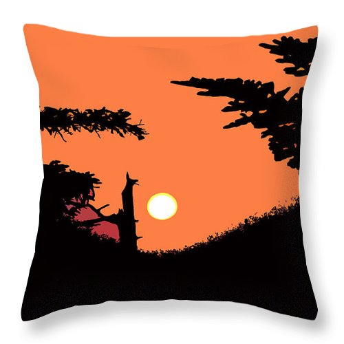 Sunset Throw Pillow featuring the painting Sunset by David Lee Thompson