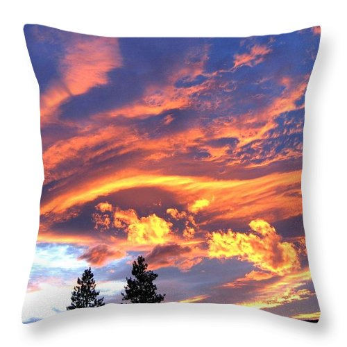 Sunset Throw Pillow featuring the photograph Sunset Extravaganza by Will Borden