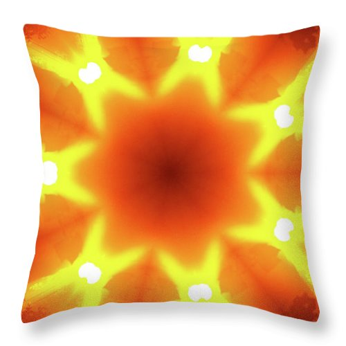 Texas Throw Pillow featuring the photograph Sunset Firewheel Kaleidoscope by Robyn Stacey