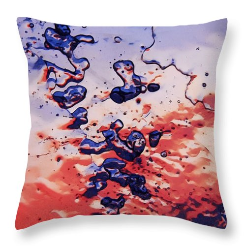 Flakes Throw Pillow featuring the photograph Sunset Flakes by Sami Tiainen