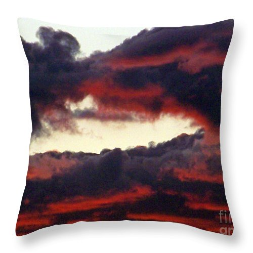 Sunset Throw Pillow featuring the photograph Sunset Formation by Brian Commerford