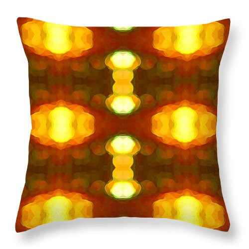 Abstract Painting Throw Pillow featuring the digital art Sunset Glow 1 by Amy Vangsgard