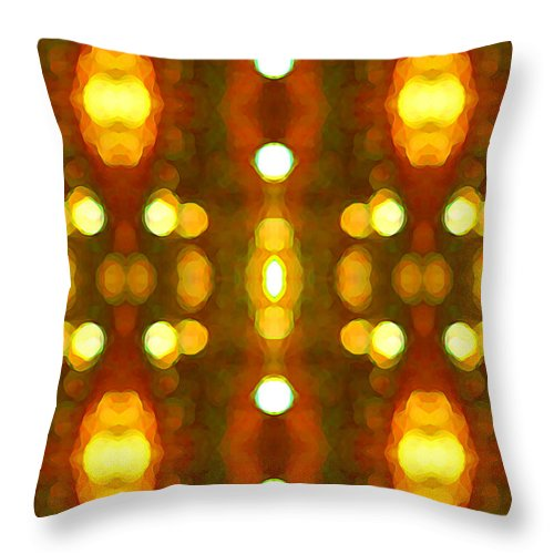 Abstract Throw Pillow featuring the painting Sunset Glow 2 by Amy Vangsgard