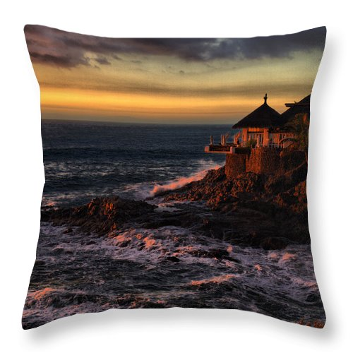 Spain Throw Pillow featuring the photograph Sunset Hdr by Jouko Lehto
