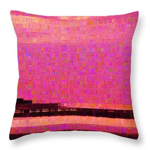 Abstract Throw Pillow featuring the photograph Sunset Hilton Head by Luz Jitana