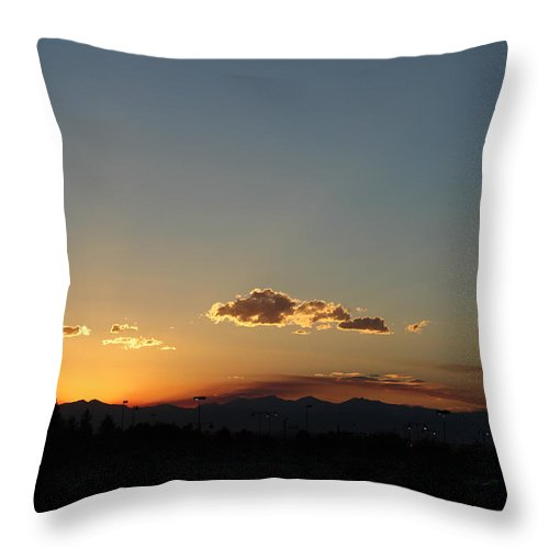 Silhouette Throw Pillow featuring the photograph Sunset in Colorado by Colleen Cornelius