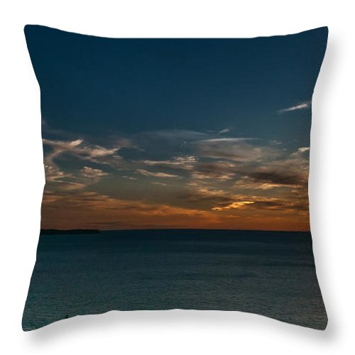 Sunset Throw Pillow featuring the photograph Sunset In Dalmatia by Dragan Tomic