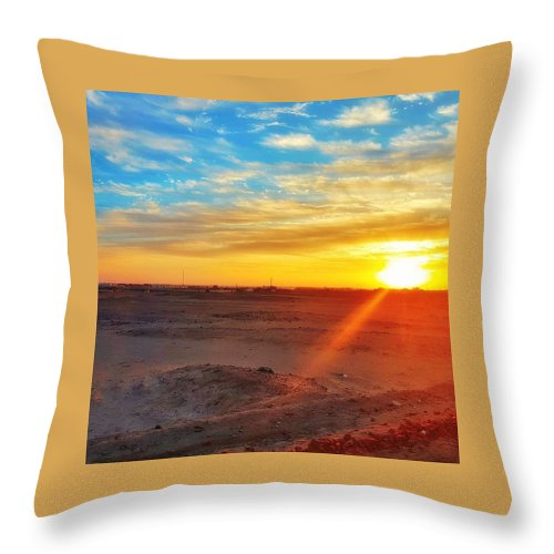 Sunset Throw Pillow featuring the photograph Sunset In Egypt by Usman Idrees