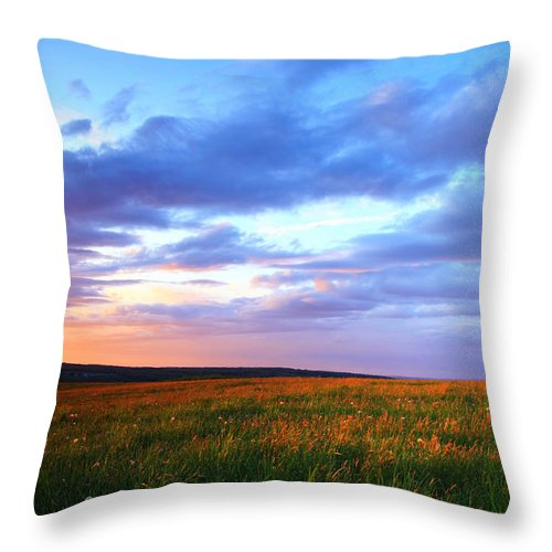 Sunset Throw Pillow featuring the photograph Sunset In Ithaca South Hill by Paul Ge
