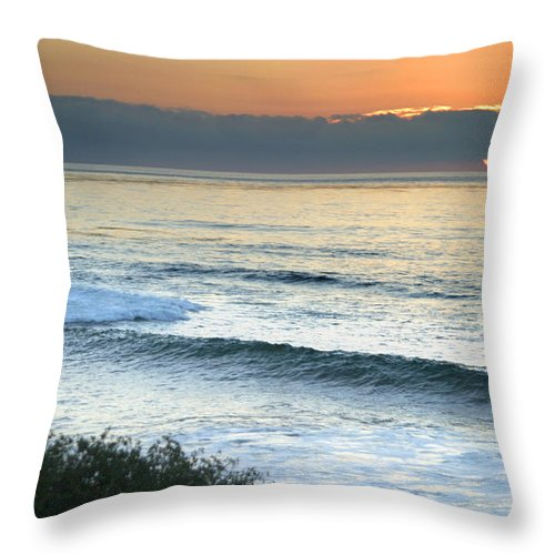 Sunset Throw Pillow featuring the photograph Sunset In La Jolla by Anthony Jones