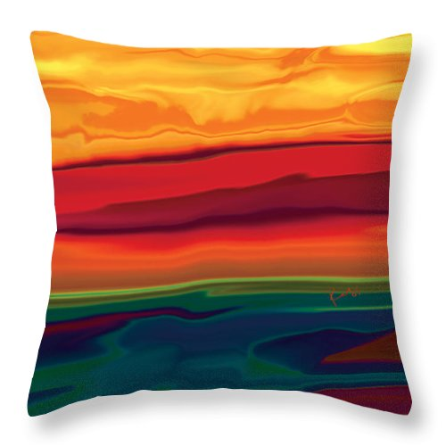 Art Throw Pillow featuring the digital art Sunset In Ottawa Valley 1 by Rabi Khan