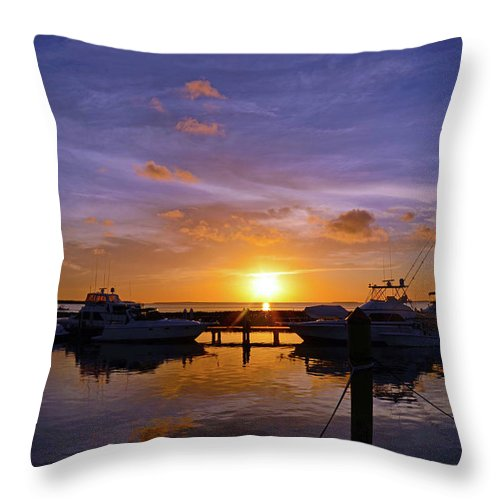 Sunset Throw Pillow featuring the photograph Sunset In Paradise by Chris Kraska