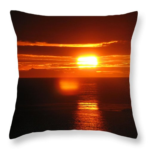 Sunset Throw Pillow featuring the photograph Sunset In Reykjavik by Andres Zoran Ivanovic