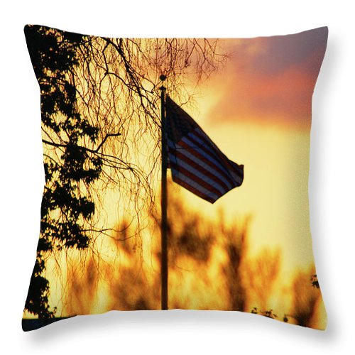 Flag Throw Pillow featuring the photograph Sunset In San Diego by Tommy Anderson
