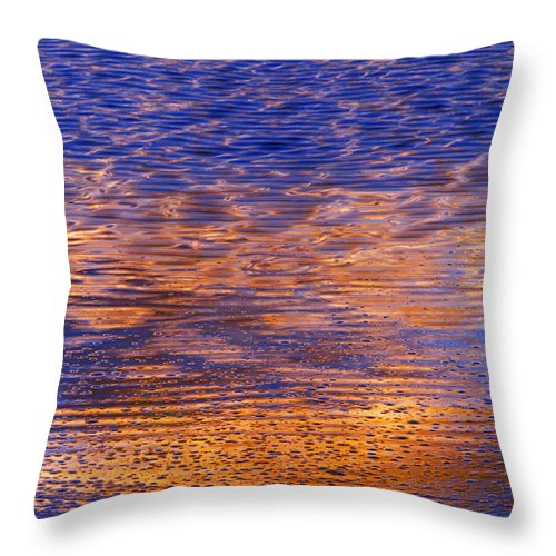 Sunset Throw Pillow featuring the photograph Sunset Light by Silke Magino