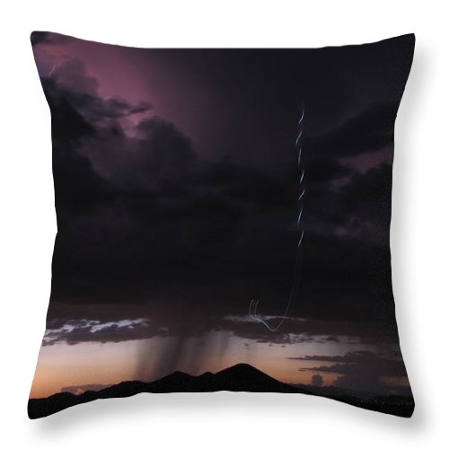 Sunset Throw Pillow featuring the photograph Sunset Loop by Cathy Franklin