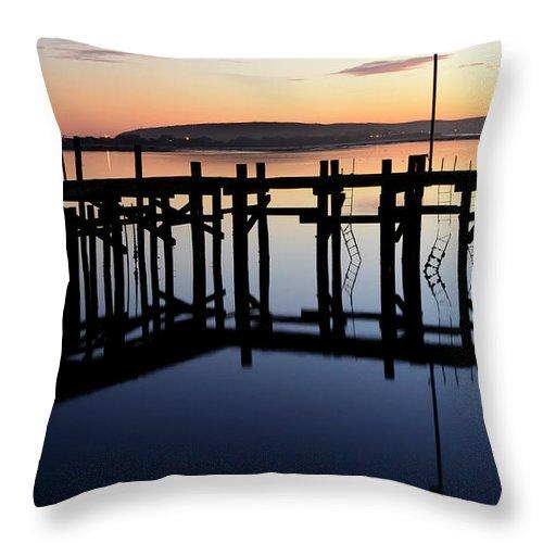 California Throw Pillow featuring the photograph Sunset Magic Bodega Bay California by Bob Christopher