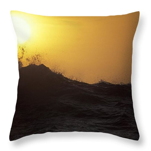 Sunset Throw Pillow featuring the photograph Sunset by Michael Mogensen