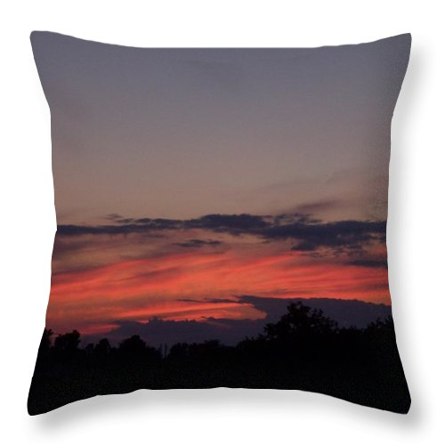 Sunset Throw Pillow featuring the photograph Sunset by Michelle Miron-Rebbe