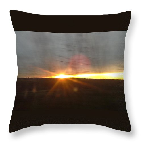 Pid Throw Pillow featuring the photograph Sunset by Mr D