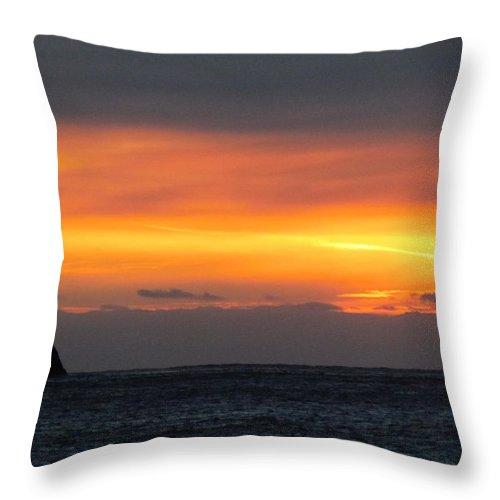 Sunset Near Doubtful Sound Throw Pillow featuring the photograph Sunset Near Doubtful Sound by Joyce Woodhouse