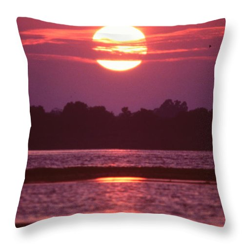 Winter Sunset In Florida Throw Pillow featuring the photograph Sunset by Nicole Anderson