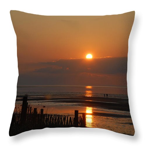 Sunset Throw Pillow featuring the photograph Sunset On Cape Cod by Alana Ranney