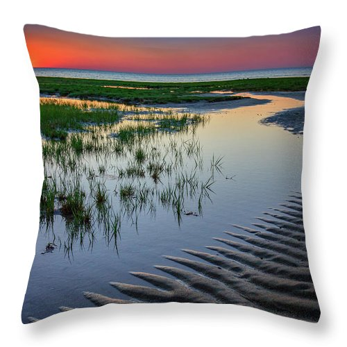 Cape Cod Throw Pillow featuring the photograph Sunset On Cape Cod by Rick Berk