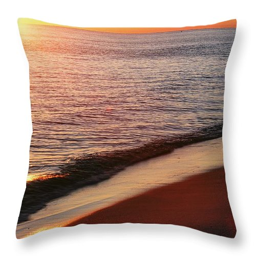 Sunset Throw Pillow featuring the photograph Sunset On The Beach by Ronnie Glover
