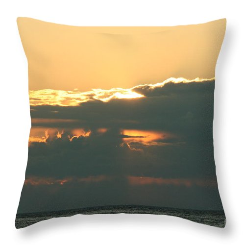 Sunset Throw Pillow featuring the photograph Sunset Over Egg Harbor Wi by Tommy Anderson