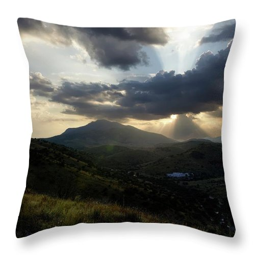 Indian Springs Throw Pillow featuring the photograph Sunset over Indian Springs by Roy Nierdieck