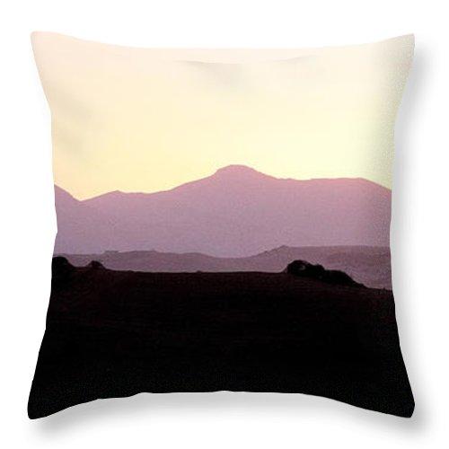 Spain Throw Pillow featuring the photograph Sunset Over The Andalucian Mountains Near Villanueva De La Concepcion by Mal Bray